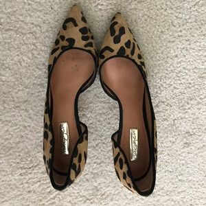 Halogen faux calf hair leopard heels